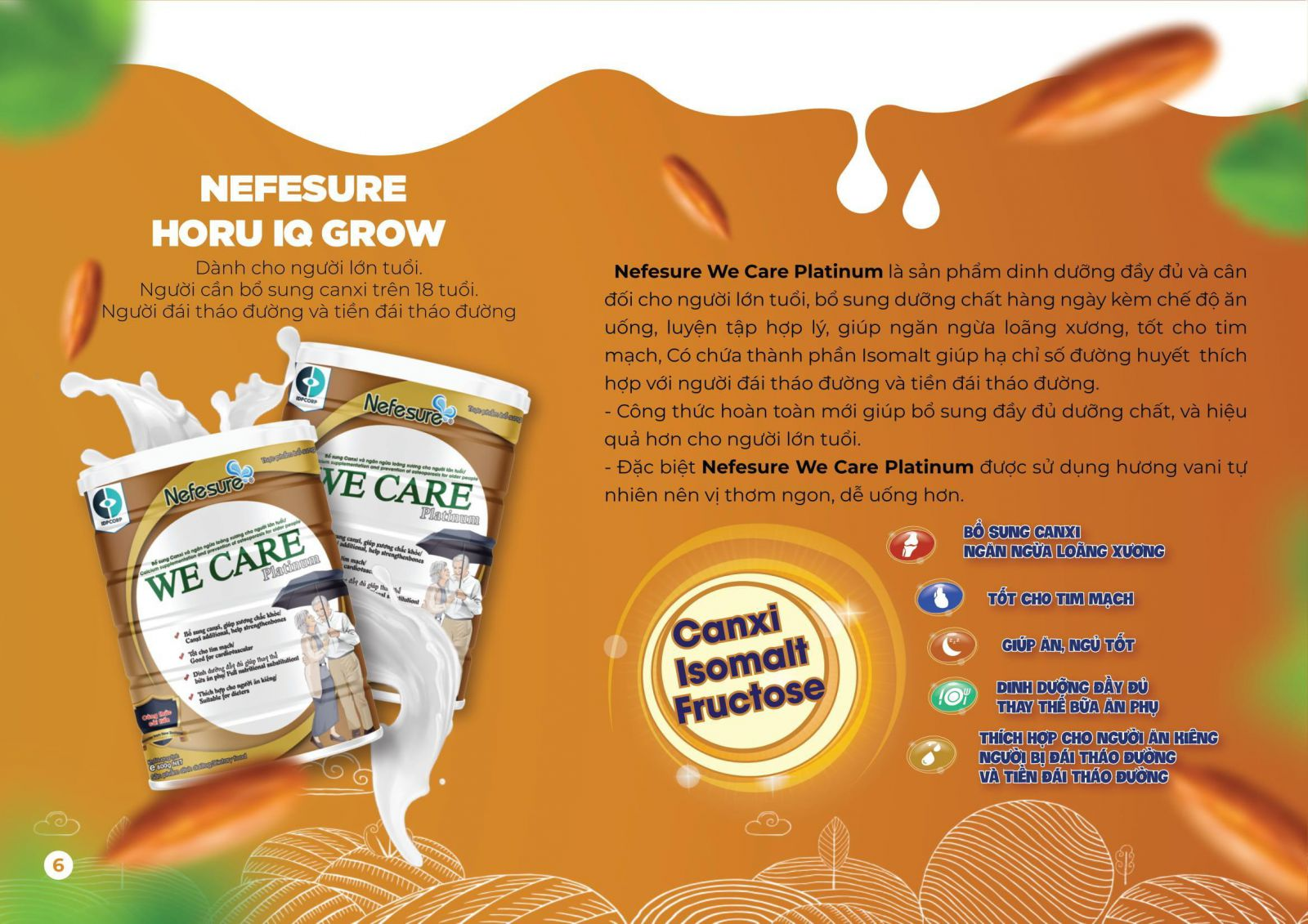Sữa bột dành cho người già, người cao tuổi | Nefesure We Care Platinum